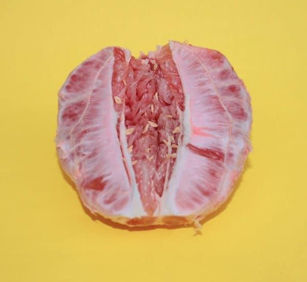 grapefruit-on-yellow-background